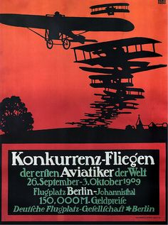 Lucian Bernhard, Flying Competition, 1909