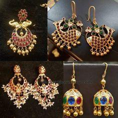 Silver Metal Hoops Earrings - Jewellery Designs