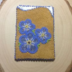 Forget-Me-Not Credit Card Holder by Alaska Beadwork Beadwork, Beading, Card Holders, Alaska, Forget, Blanket, Handmade Gifts, Crochet, Cards