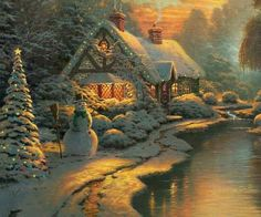 Frosty The Snowman- Thomas Kinkade