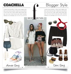"""""""Best Friends Blogger Style"""" by akchesunel ❤ liked on Polyvore featuring Moschino Cheap & Chic, American Eagle Outfitters, Chloé, Elizabeth and James, Yves Saint Laurent, ABS by Allen Schwartz, Accessorize, Ray-Ban, RetroSuperFuture and StreetStyle"""