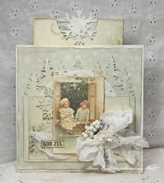 Anne's paper fun: Christmas Card by Jeanette Kromman using Pion Designs.    Wendy Schultz - Christmas Cards.
