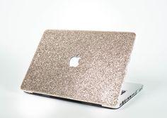 CHAMPAGNE GOLD- Glitter Macbook Hard Case for Macbook Air, Macbook Pro, + Macbook Pro with Retina Display