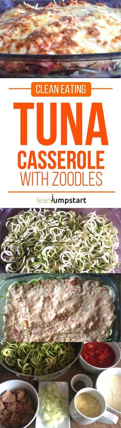 Tuna Casserole Recipe with Zoodles: Almost Clean and Easy (Paleo Recipes Clean Eating) Dinner Casserole Recipes, Potatoe Casserole Recipes, Tuna Recipes For Dinner, Tuna Casserole Healthy, Zoodle Casserole, Egg Casserole, Potato Recipes, Freezable Casseroles, Quick Casseroles