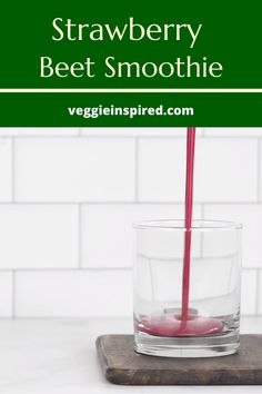 With over of your daily Vitamin C needs this Strawberry Beet Smoothie will help keep your immune system strong. Boasting plant protein minerals and healthy fats from flax and hemp seeds its the perfect balance of healthy nutrition and yummy treat. Beet Smoothie, Fruit Smoothie Recipes, Vegan Smoothies, Healthy Drinks, Healthy Nutrition, Healthy Fats, Beet Recipes, Healthy Recipes, Daily Vitamins