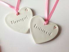 Wedding Place Settings Personalised Favours Handmade Clay Gift Tags