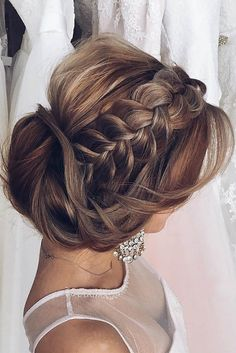 Peinado de boda ❤ See more: http://www.weddingforward.com/braided-wedding-hair/ #weddings #hairstyles