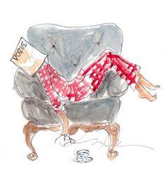Inslee Haynes / tea and magazine... sooooo comfy