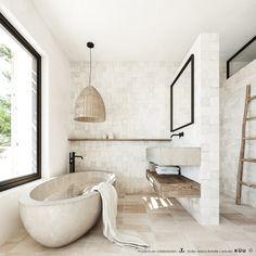 Ca la Siesta — Bataille Living Mediterranean Homes, Mediterranean Bathroom Design Ideas, Bathroom Interior Design, Beautiful Bathrooms, Bathroom Inspiration, Sweet Home, Handmade Lamps, Minimalist Bathroom, Interiors