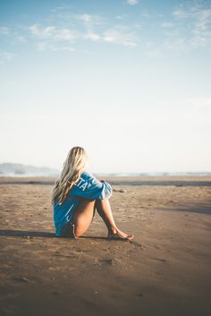Na praia.