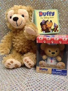 "DISNEY 9"" DUFFY THE BEAR PLUSH (EMBROIDERED PAWS) and DUFFY VINYLMATION"