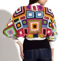 Desigual Plaza De Mayo Cardigan This bright and colorful cropped shrug is the perfect addition to a plain outfit! It is in great condition! Only been worn a couple times! Desigual Sweaters Shrugs & Ponchos