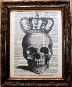 A+Page+In+Time+Design+Crowned+Skull+Art+Print+on+by+apageintime,+$6.50