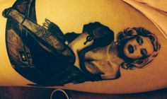 Marilyn Monroe pin up style tattoo 50's