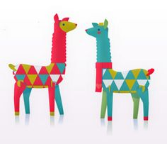 Super cool festive llamas, printable paper ornament kit on Etsy Alpacas, Printable Crafts, Printable Paper, Printables, Paper Art, Paper Crafts, Diy Paper, Easy Crafts, Arts And Crafts