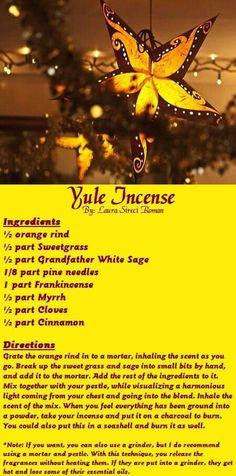 Yule Incense ⊰♡⊱ recipe