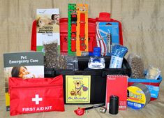Emergency kit for small dogs - $39.95 - need one for a bigger dog, but cool idea.
