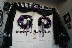 Halloween door entrance - Nightmare Before Christmas
