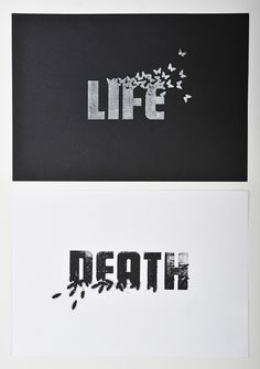 such simple connection between the word and it imagery but believe they could of left out the words entirely as we have a insent relationship between the cockroach and death.