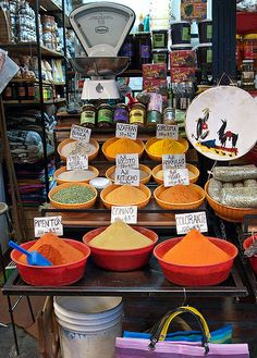 spices for sale, Mercado Central, Salta, Argentina
