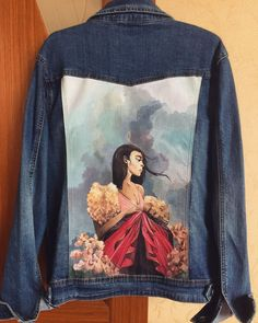 23 best Running Shoes with Jeans Outfits - Outdoor Click Painted Denim Jacket, Painted Jeans, Painted Clothes, Hand Painted, Diy Clothing, Custom Clothes, Custom Denim Jackets, Looks Jeans, Denim Art