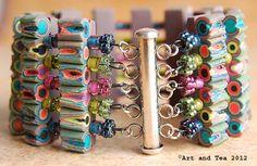 Polymer clay bracelet By: Karen Park