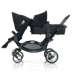 "For twins or siblings. When I played with it in a German shop, I found myself humming ""The wheels on the bus"" because it is sooo long, but the push is amazing for a tandem. Double Strollers, Baby Strollers, Baby Kids, Baby Boy, Pram Stroller, Baby Planning, Everything Baby, Baby Bumps, Twins"
