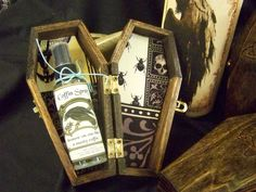 Coffin box ( room spray) by WitchesHollowFarms on Etsy