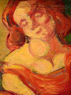 """BERNARD Emile,1887 - Au Cabaret (Orsay) - Detail 22  -  TAGS/ art painters peintres details détail détails detalles painting paintings peintures """"peintures 19e"""" """"19th-century paintings"""" tableaux Museum Paris France women woman fille girl girls """"jeune femme"""" """"young woman"""" """"young women"""" drink danse dance nightclub  night nuit dancer courtesan buveurs drinkers bottle bouteille verres glass man men hommes people fête feast auberge inn couple lovers amoureux amour love sultry sensual erotism…"""