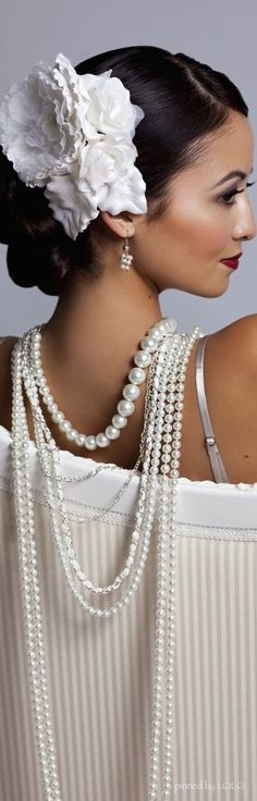 Pearls Draped.. Definitely an easy buy at your local mall don't spend a lot of money on these fun accessories