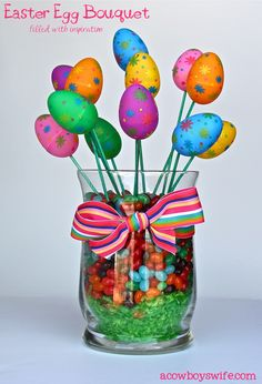 Filled Easter Egg Bouquet -- cute and budget-friendly!