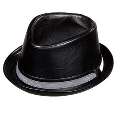Stacy Adams Black Vegan Leather Diamond Crown Hat  Only $69.99  http://shopbigtime.com/shop/all/BGT01747-stacy-adams-stacy-adams-black-vegan-leather-diamond-crown-hat  #Fedora #Fedoras