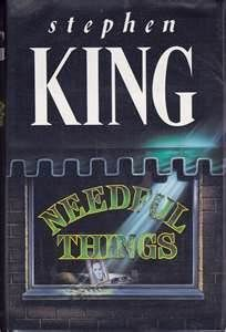I've just begun reading Needful Things and only forty pages into it I'm already hooked! The book drew me in because of its uniquely written prologue; it is written in the second person perspective so that it seems as if a character is speaking directly to the reader, something that I haven't read in any novel before. I very much look forward to the next time I can spare an hour or two to read it!