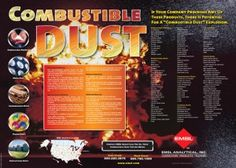 Combustible Dust: Free Informational Poster for Industries With Combustible Dust Hazards from EMSL Analytical Inc