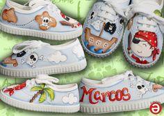 zapatillas pintadas a mano, Artesanía, regalos originales, zapatillas disney, regalos para bebe originales, zapatillas personalizadas,