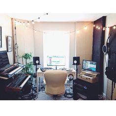 Jon Steingard's home studio.