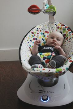 I want one of these things for Leighton so bad!! :)  Wild & Precious: Ready to Rock?! 4moms rockaRoo reivew & giveaway.