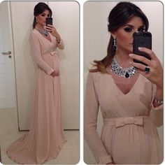 Find More Evening Dresses Information about Long Sleeve Elegant Evening  Dresses for Pregnant Women Formal Chiffon ae5f69c8ff0e