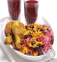 Sour-Cherry Rice with Chicken  آلبالوپلو با مرغ