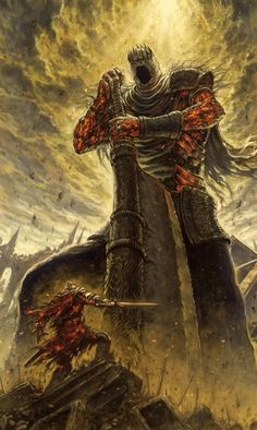 Yhorm the giant, the last giant in Dark Souls 2 apparently wasn't the last one. (I'm not very well known with the Dark Souls lore Dark Fantasy Art, Fantasy Artwork, Dark Art, Dark Souls Lore, Art Dark Souls, Dark Souls 3 Dlc, The Last Giant, Soul Saga, Art Noir