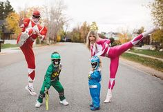 Family costume - Power Rangers