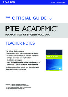 Free Download The Official Guide to PTE Academic - Teacher Notes (PDF Book)