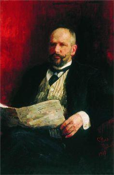 Portrait of P.A. Stolypin, 1910  Ilya Repin