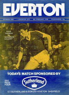 Everton v Leciester City 1977-78