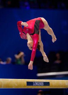 Jordyn Wieber on balance beam, women's gymnastics, gymnast, wag m.2.19 #KyFun