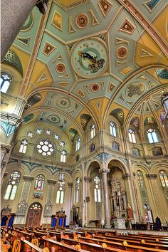 Ceiling, Old St. Mary's, Greektown, Detroit, MI, USA. #churches, #detroit