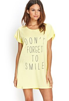 Smile Sleep Shirt | FOREVER21 - 2000087604