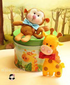 Macaquinho e girafinha by Ei menina! - Érica Catarina, via Flickr