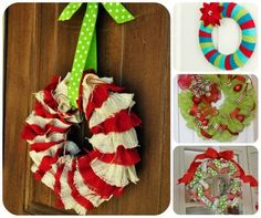 Make Christmas Wreath: could use different colors for a different feel