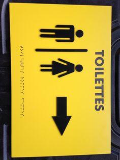 Plaque acrylique inscription braille +lettre relief pour mal voyant Plaque Pvc, Braille, Company Logo, Symbols, Letters, Relief, Logos, Toilets, Logo